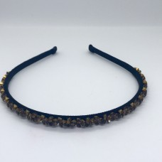 Swarovski hair band brown