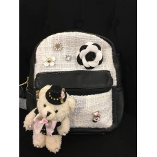 Tweed Bag Pack 1 (Black & White)